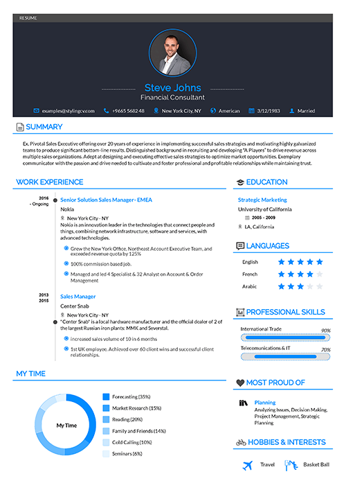 Professional Resume Template Diamond