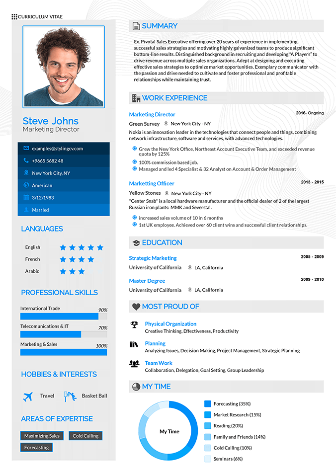 Arrow Resume Template