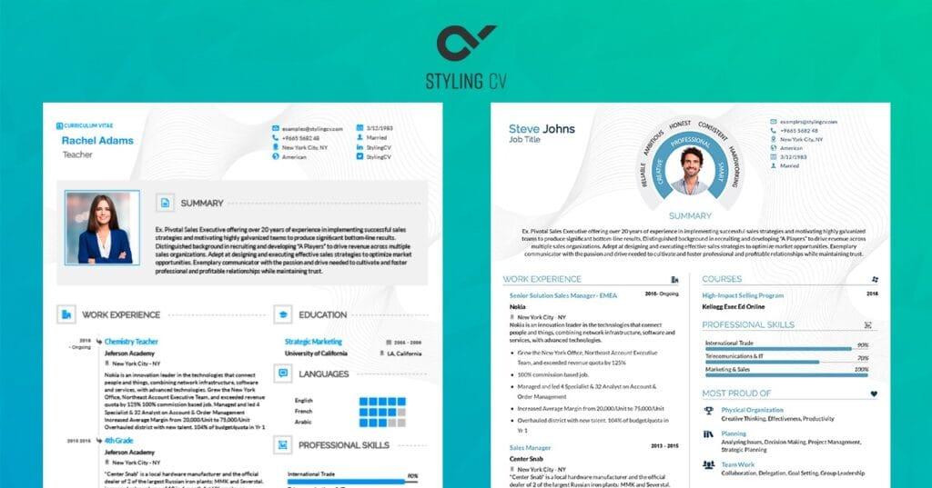 A Resume Format Example Using Bars for Showcasing Skill Expertise Range