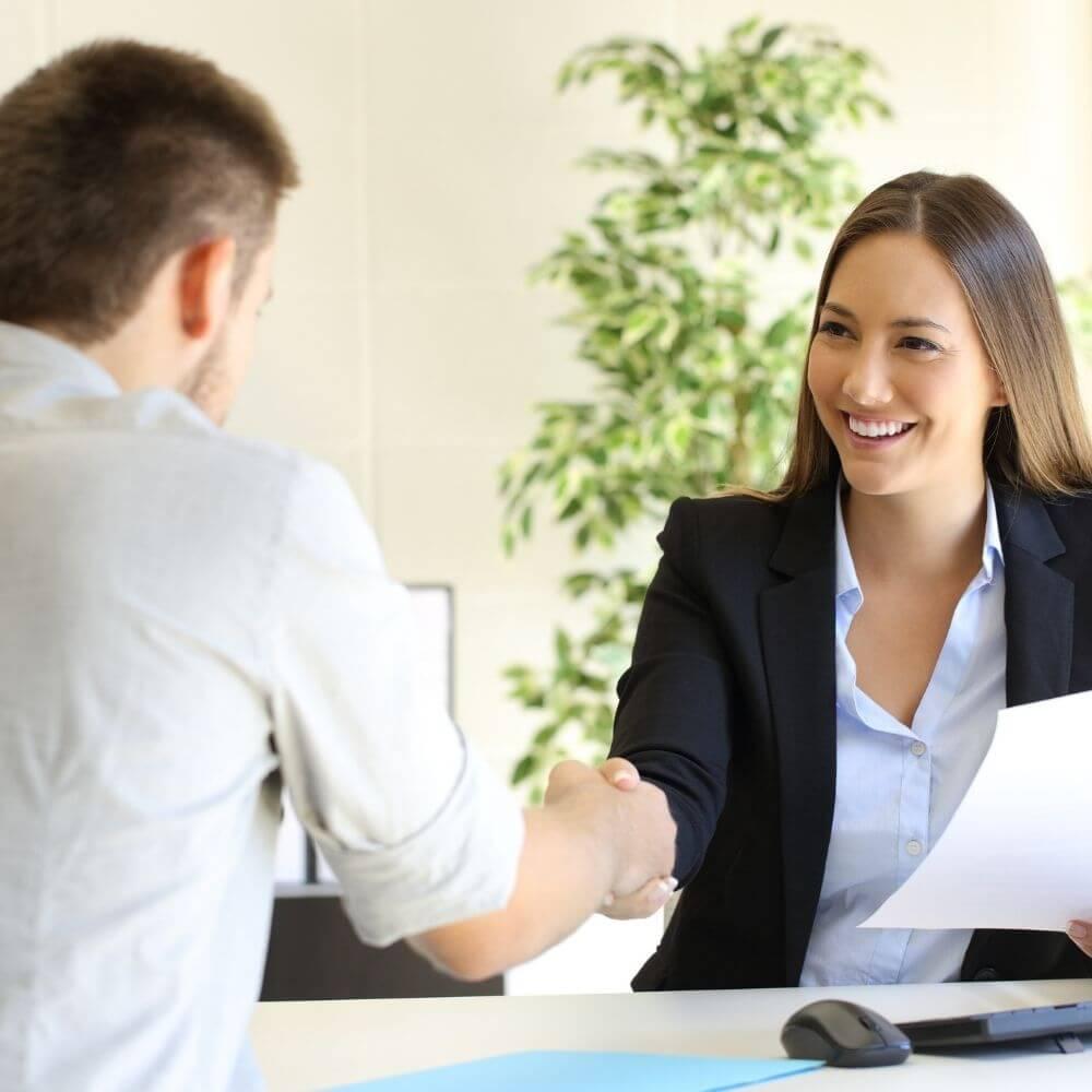 A man being offered a job